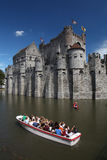 Castle boat Royalty Free Stock Photography