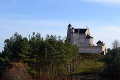 Castle Bobolice. Amazing castle Bobolice in Poland Royalty Free Stock Photo