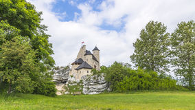 Castle in bobolice Royalty Free Stock Images