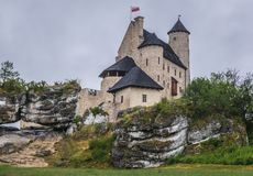 Castle in Bobolice. Outside view of Bobolice Castle in small Bobolice village on the Trail of Eagles Nests in Poland Royalty Free Stock Photo