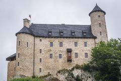 Castle in Bobolice. Outside view of Bobolice Castle in small Bobolice village on the Trail of Eagles Nests in Poland Royalty Free Stock Photography