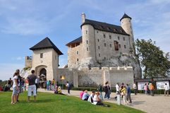 Castle of Bobolice, Poland Stock Photography