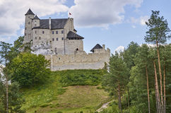 Castle in Bobolice & x28;Poland& x29;. Medieval castle in Bobolice & x28;Poland& x29 Stock Images