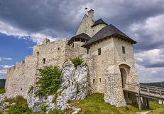 Castle in Bobolice & x28;Poland& x29; Royalty Free Stock Image