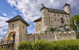Castle in Bobolice & x28;Poland& x29; Stock Photography