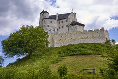 Castle in Bobolice & x28;Poland& x29; Stock Photos