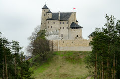 Castle in Bobolice village Poland Stock Photography