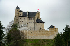 Castle in Bobolice village Poland Stock Photo