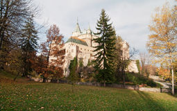 Castle Bojnice in sunny day Royalty Free Stock Photo