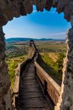 Castle of Boldogko in Hungary in Europe. Castle of Boldogko in Hungary, Europe stock images