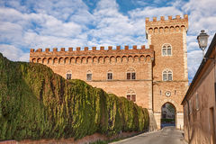 Castle of Bolgheri in Tuscany, Italy Stock Photo