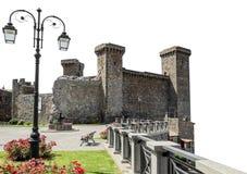 The Castle of Bolsena Castello Rocca Monaldeschi in italian. Viterbo, Italy. Building  on white background.