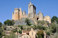 Castle Bonaguil, Aquitaine, Γαλλία Στοκ Φωτογραφίες