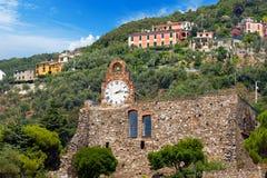 Castle of Bonassola Liguria Italy Stock Image