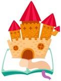 Castle on the book Stock Photos