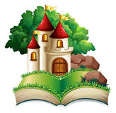 Castle and book Royalty Free Stock Photography