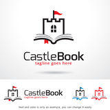 Castle Book Logo Template Design Vector
