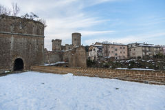 Castle of Borgia in Nepi in Italy Royalty Free Stock Images