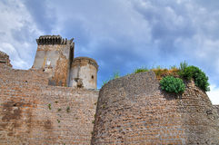 Castle of Borgia. Nepi. Lazio. Italy. Stock Images
