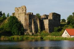 Castle Borotin. Old Castle Borotin in Czech Republic Stock Photo