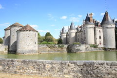 Castle of Bourg Archambault in France Royalty Free Stock Images