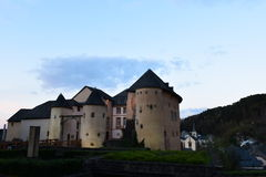 Castle in Bourglinster, Luxembourg royalty free stock image