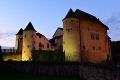 Castle in Bourglinster, Luxembourg. After sunset Stock Image