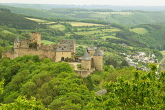 Castle of Bourscheid , Luxembourg , Europe Royalty Free Stock Photos
