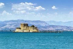 The castle of Bourtzi, Greece Stock Photos