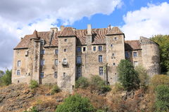 Castle of Boussac in France Stock Photography