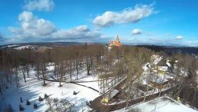 Castle Bouzov,Czech stock footage