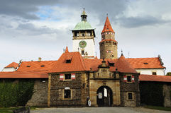 Castle Bouzov. Czech republic Royalty Free Stock Photos