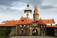Castle Bouzov. Czech republic Royalty Free Stock Photos