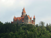 Castle in Bouzov. In Czech Republic royalty free stock photo