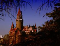 Castle Bouzov Czech republic Royalty Free Stock Photo