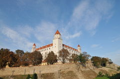 Castle in Bratislava. This castle stands guarding by the side of Danube in Bratislava, Slovakia Royalty Free Stock Photos