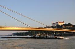 Castle in Bratislava. Castle and river Danube in Bratislava - Slovakia royalty free stock photos