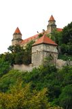 Castle in Bratislava. Over white background stock photo