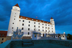 Castle of Bratislava. By night, Slovakia Royalty Free Stock Image