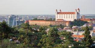 Castle in Bratislava from Slavin Royalty Free Stock Photo
