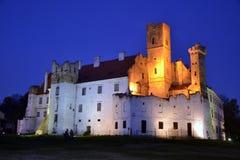 Castle Breclav. Breclav castle at sunset - Czech republic Stock Photos