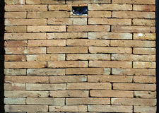 Castle brick wall detail, power socket hole Stock Images