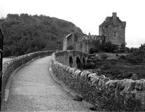 Castle Bridge. Bridge to Eilan Donan Castle in Scotland royalty free stock photo