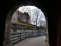 Castle bridge stock photo