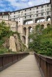 Castle bridge, Cesky Krumlov, Czech republic Stock Photos