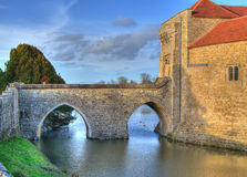 Castle bridge HDR Stock Photo