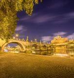 Castle and bridge of Holy Angel Rome, Italy Royalty Free Stock Image