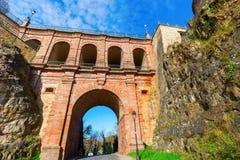 Castle bridge in Luxembourg City Stock Photo