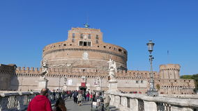 Castle and Bridge of San Angelo. Rome, Italy - Fe stock footage