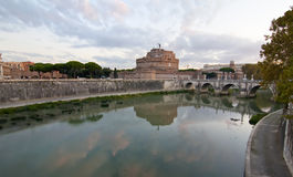 The castle and bridge of Sant'Angelo in Rome Royalty Free Stock Photography